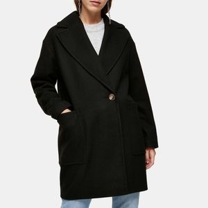 TOPSHOP • Black Coat